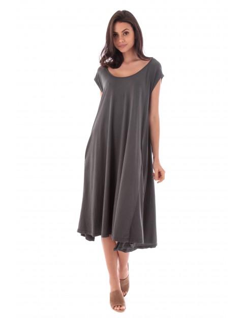 Robe Lila gris en coton Fille de Coton