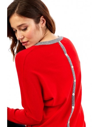 Pull maille fine col rond