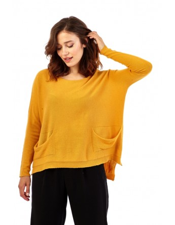 Pull ample avec deux poches