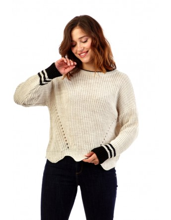 Pull en maille col rond