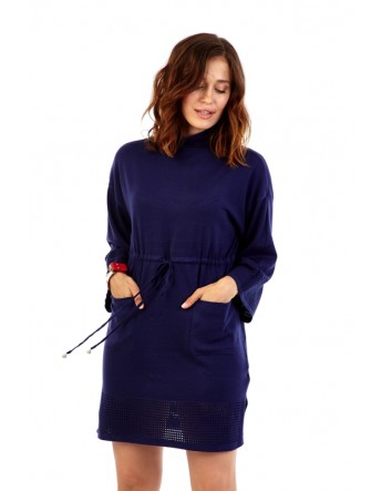 Robe pull avec deux poches