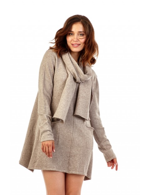 Robe pull avec écharpe ACTUMODE