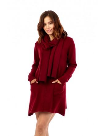 Robe pull avec écharpe