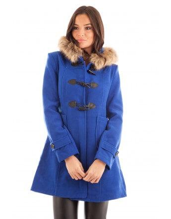 Duffle coat bleu royal