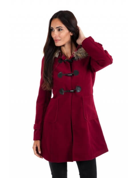 Duffle coat bordeaux
