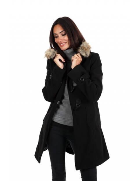 Duffle coat noir