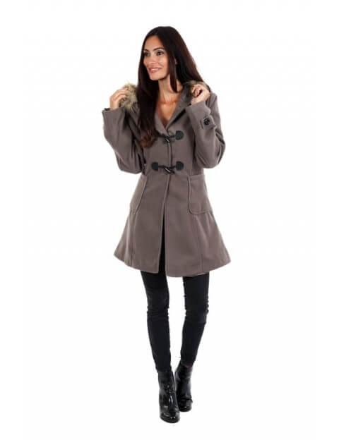 Duffle coat taupe