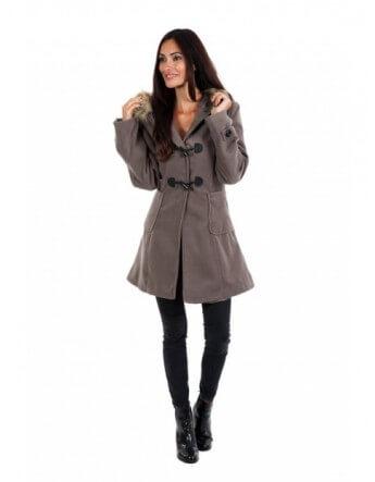 Duffle coat taupe Le Comptoir du Manteau