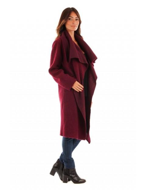Manteau col revers - bordeaux