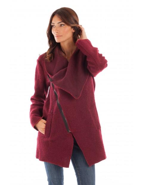 Manteau à capuche-Bordeaux