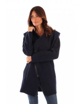 Manteau à capuche, fermeture Marine