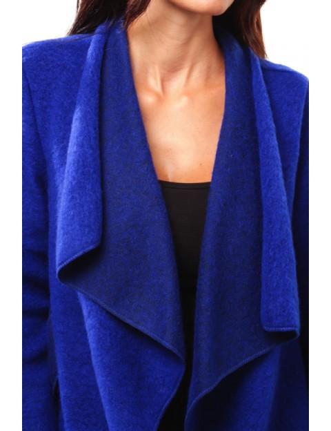 Manteau à col tombant Bleu-Royale