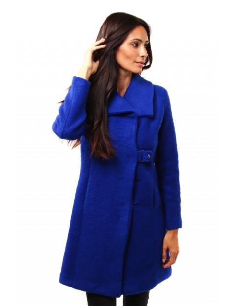 Manteau à col châle - bleu royal