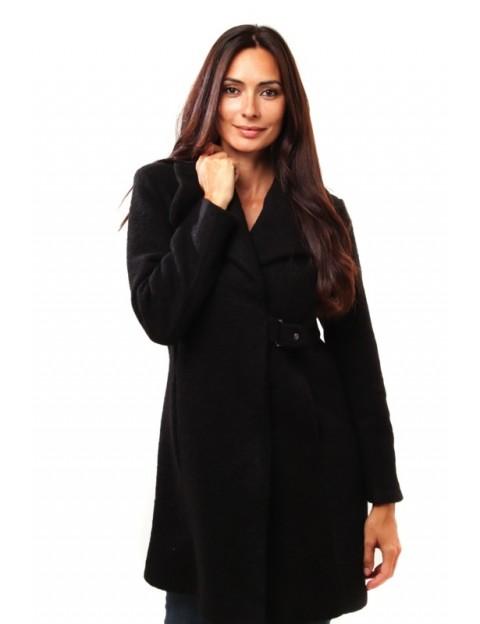 Manteau à col châle - noir