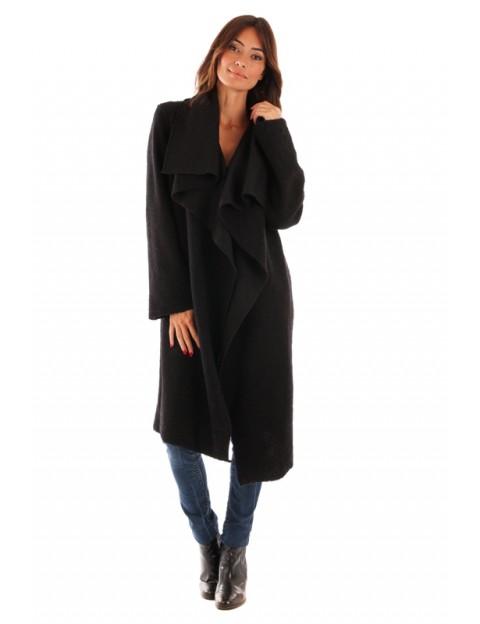 Manteau col revers - marine